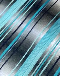 Polyester Regular Necktie Stripe PW8281-B with Handkerchief