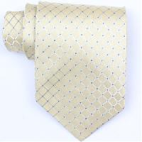 Silk Yellow/Blue Extra Long Woven Necktie (Item #: SW375-A-L)