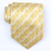 Silk Yellow/Blue Extra Long Woven Necktie (Item #: SW377-A-L)