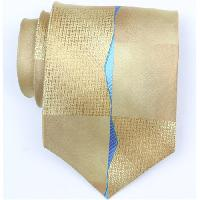 Silk Gold/Blue Extra Long Woven Necktie (Item #: SW380-A-L)