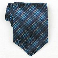 Silk Blue/Turquoise Woven Necktie (Item # : SW391-A)