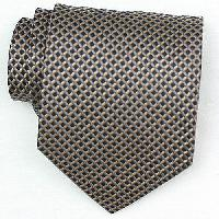 Silk Black/Brown/Blue Woven Necktie (Item # : SW400-A)