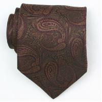 Silk Brown/Burgundy Woven Necktie (Item # : SW404-A-L)
