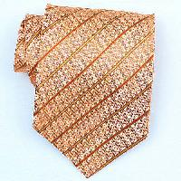 Silk Orange/Gold Woven Necktie (Item #: SW418-A)