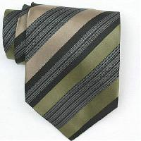 Silk Green/Black/Tan/White Extra long Woven Necktie (Item # : SW431-A-L)