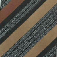 Silk Brown/Black/Tan/White Woven Necktie (Item # : SW431-B)
