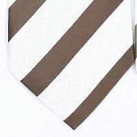 Silk White/Brown Woven Necktie (Item #: SW447-D)