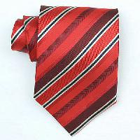 Silk Red/Burgundy/black/cream woven necktie (Item#: SW454-A) With Handkerchief