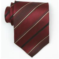 Silk Burgundy/black/gold Extra Long woven necktie (Item#: SW455-A-L)