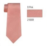 100% Silk Solid Necktie With Handkerchief Color: 9 Dusty Pink