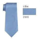 100% Silk Solid Necktie With Handkerchief Color: 18 Light Blue