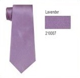 100% Silk Solid Necktie With Handkerchief Color: 7 Lavender