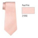 100% Silk Solid Necktie With Handkerchief Color: 82 Pearl Pink