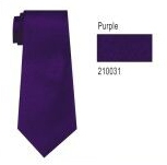 100% Silk Solid Necktie With Handkerchief Color: 31 Purple