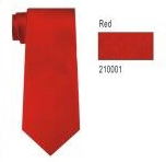 100% Silk Solid Necktie With Handkerchief Color: 1 Red