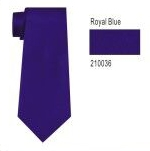 100% Silk Solid Necktie With Handkerchief Color: 36 Royal Blue