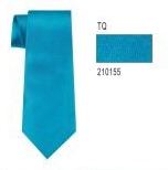 100% Silk Solid Necktie With Handkerchief Color: 155 Turquoise