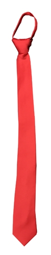 Ready knot Skinny Tie (Zipper Tie) Red