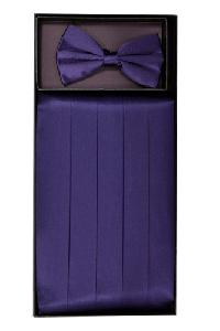 Cummerbund and Bowtie Set (Grape Silk Satin)