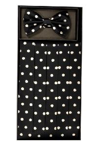 Polyester Cummerbund and Bowtie Set (Polka Dot)