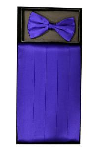Cummerbund and Bowtie Set (Purple Silk Satin)