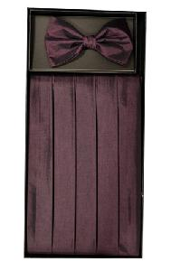 VS3910 Cummerbund and Bowtie Set (Burgundy)