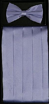 Cummerbund and Bowtie Set (Lavender Silk Satin)