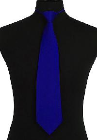 Ready knot Tie (Zipper Tie) Royal Blue