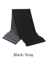 Scarf-Solid double layered colors 73 x 12 in Black / Gray