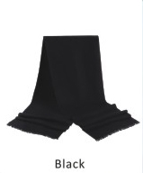 Scarf Solid 71 x 12 in Black