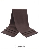 Scarf Solid 71 x 12 in Brown