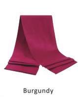 Scarf Solid 71 x 12 in Burgundy