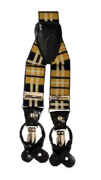 Suspender Y-Back Plaid Brown