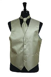VS2010 Horizontal Rib Pattern Vest Tie Set Sage Green