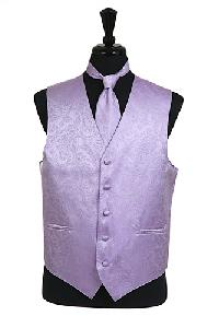 VS278 Paisley tone on tone Vest Tie Set Lavender