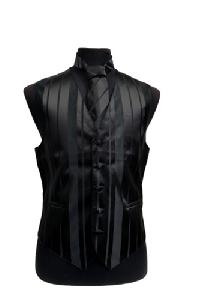 VS4010-Vest/Tie/Bowtie Sets (Black Tone on Tone)