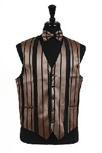 VS4010-Vest/Tie/Bowtie Sets (Black-Mocha Combination)