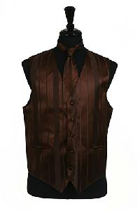 VS4010-Vest/Tie/Bowtie Sets (Brown Tone on Tone)