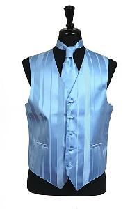 VS4010-Vest/Tie/Bowtie Sets (Light Blue Tone on Tone)