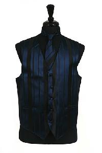 VS4010-Vest/Tie/Bowtie Sets (Navy Blue-Black Combination)
