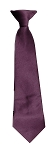 Polyester Boy's Clip on Neck Tie Solid MAUVE