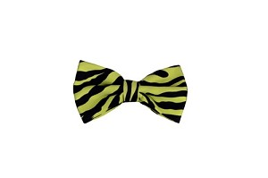 Bowties Zebra Printed Design Green and Black