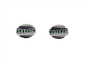 Cufflinks 2Pcs Set with Black Box Silver CA018-S