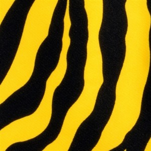 Polyester Zebra Design Handkerchief Yellow