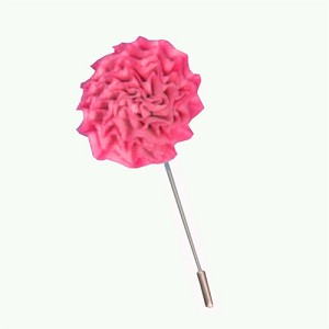 Flower Lapel Pin Hot Pink