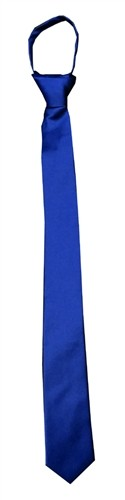 Ready knot Skinny Tie (Zipper Tie) Royal Blue