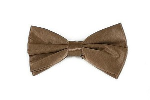 Silk Satin Bowties Brown