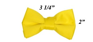 Polyester Satin Boy's Bowties Yellow