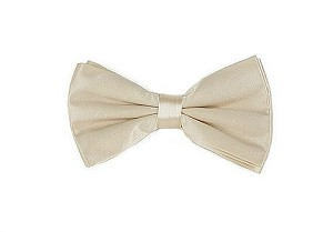 Silk Satin Bowties Cream