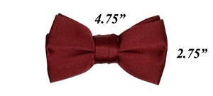 Polyester Satin Bowties Burgundy